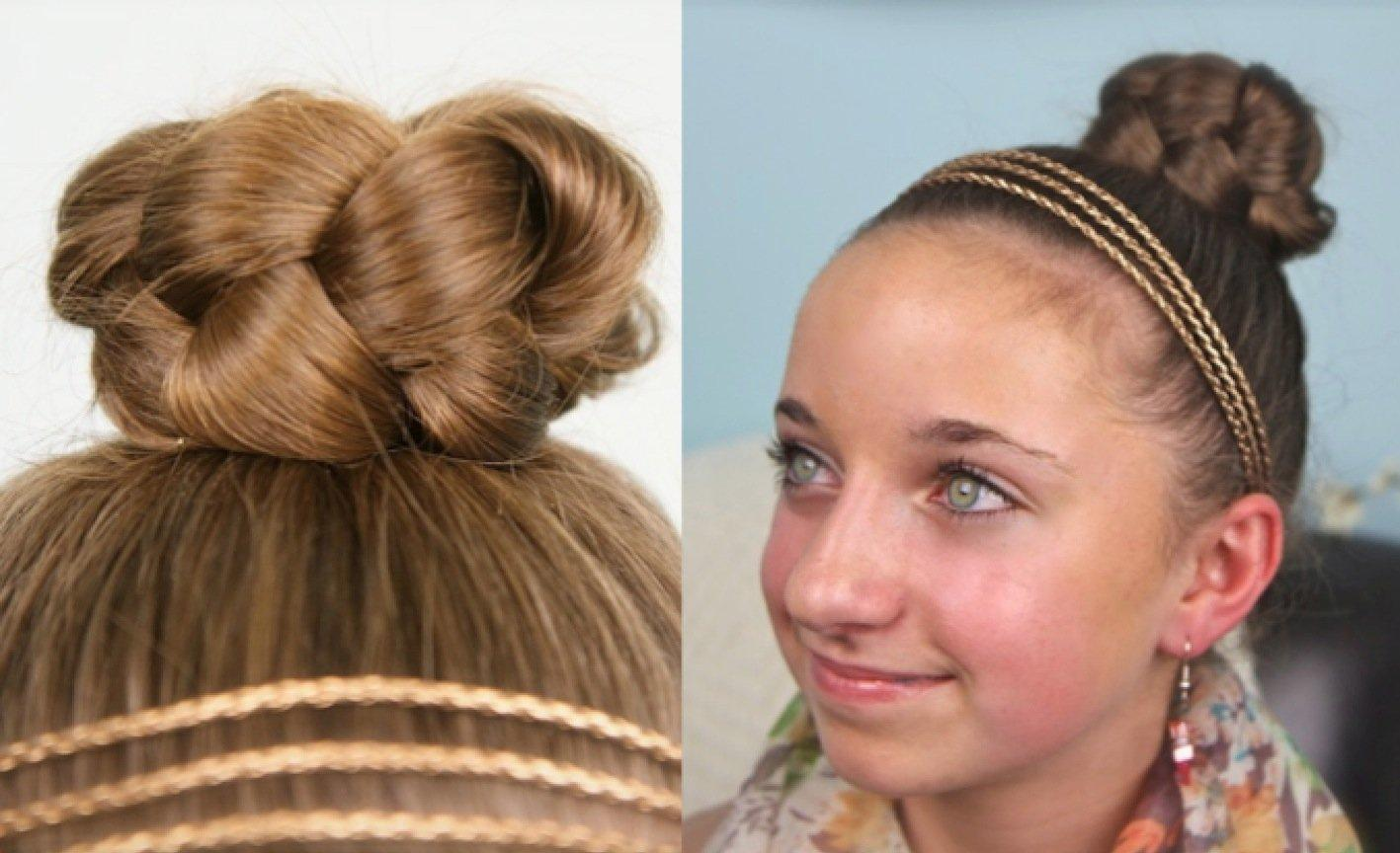 This Simple Braided Bun Cute Quick Style Designed For Young