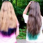 Tips Blue Hair Dye Pink Purple Bair Lovely