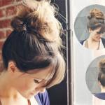 Top Knot Hairstyle Clip Cheap Best Natural Hair Extensions
