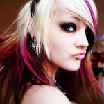 Touches Black This Blonde Hairstyle Gets Fun Punk Hair Color Look