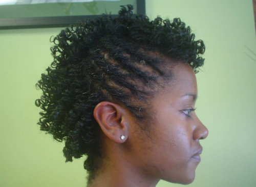 Twist Curl Updo Natural Hairstyle