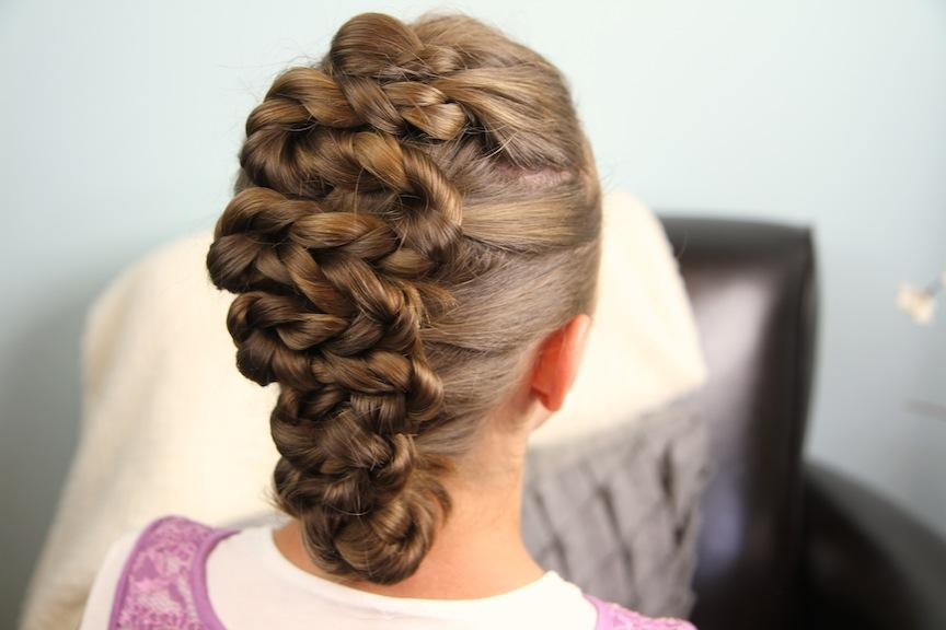 Twisted Zig Zag Updo Hairstyle Cute Girls Hairstyles
