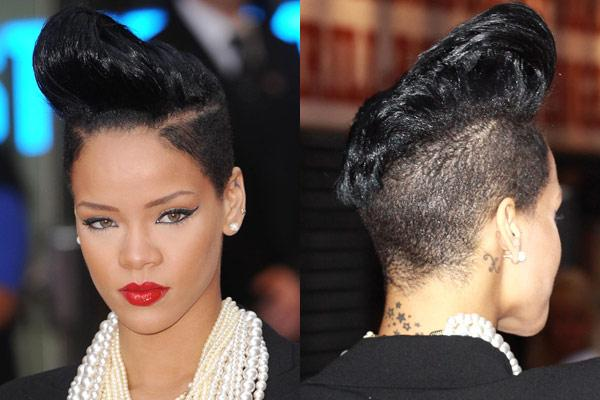 Ultra Feminine Mohawk Hairstyles Celebrities Like Rihanna