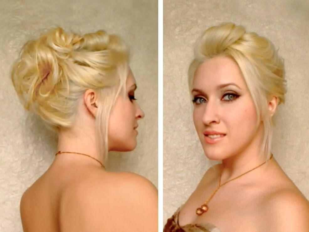 Updo For Medium Long Layered Hair Tutorial Cute Everyday Hairstyle
