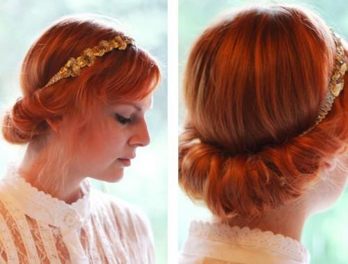 Vintage Updo Hairdo Tutorial Easy Hairstyles For Prom