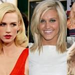 Warm Cool Blonde Pinning Like Haircut Middle
